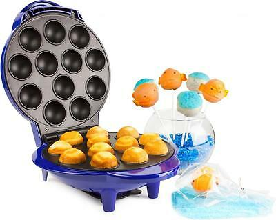 Andrew James Blue Electric 12 Party Cake Pop Maker Machine Lolly Cupcake