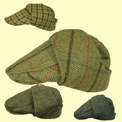 4e43c46f Bugatti Cap Earflap TWEED Hat- OPEN SOFT TOP CAR Cap Shooting Cap Mr Toad  Cap