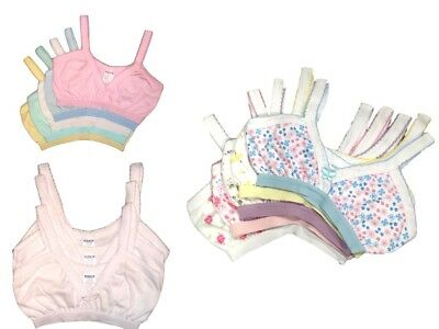 4pk PreTeen Girls Tween Beginner Training Bras 100% Cotton UnderShirts Size 8~16