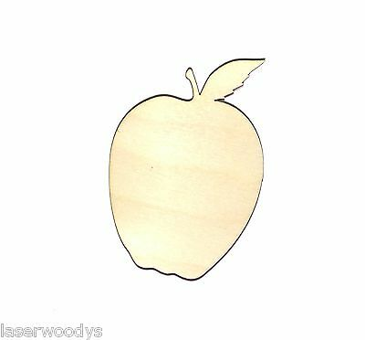 Apple Unfinished Wood Shape Cut Out T4203 Laser Crafts