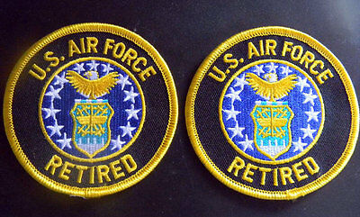 """USAF Air Force Retired 3"""" round patch Set lot of 2"""