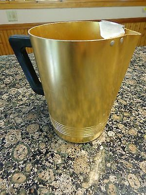Regal ~ Aluminum ~ Gold ~ Pitcher w/ Ice Lip