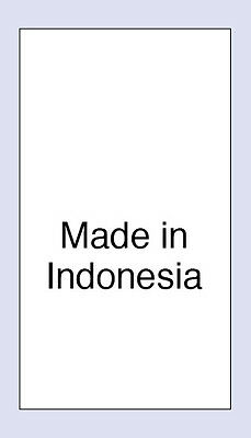 100 Made in Indonesia Sewing Washing Care Labels,