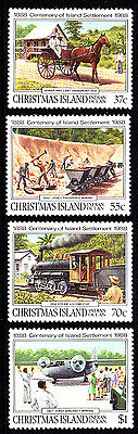1988 Christmas Island Centenary of Settlement - MUH Complete Set