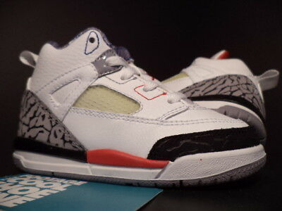 5bc049af6cac Baby 2009 Nike Air Jordan SPIZIKE TD WHITE FIRE RED BLACK CEMENT GREY BLUE  7C 7