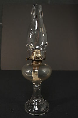 Vintage Oil or Kerosene Lamp Clear Glass Grand Rapids MI White Flame Co USA