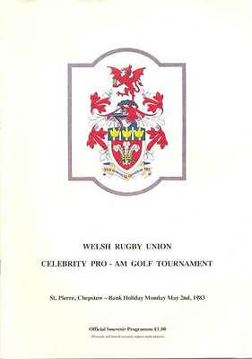 Celebrity Pro-Am Golf Tournament (Welsh Rugby Union) 2 May 1983 Prog, Chepstow
