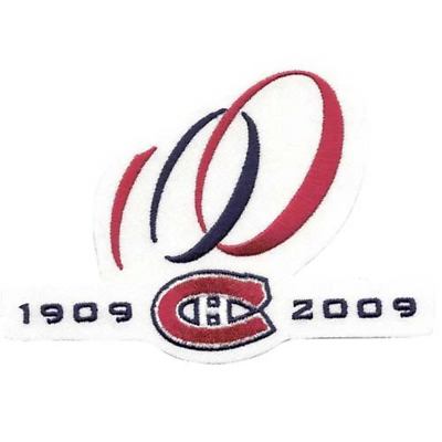 2009 Montreal Canadiens 100th Anniversary Jersey Patch Alternate Logo