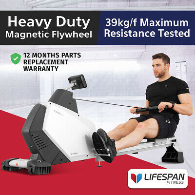 Lifespan Commercial Spec Magnetic Resistance Rowing Rower Machine /FREE HRM