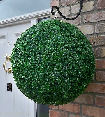Huge Best Artificial 50cm Green Boxwood Buxus Topiary Grass Ball Hanging Basket