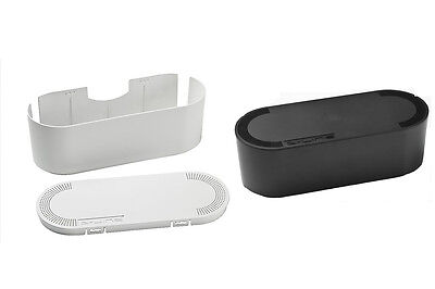 D-Line Cable Tidy Unit - Black or White - Large or Small - Fast Shipping