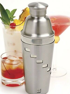 NORPRO 446 Stainless Steel Recipe Cocktail Shaker 32 oz, Includes 5 recipes