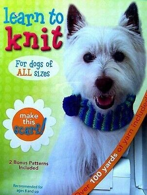 Learn To Knit Kit  Make This Dog Scarf  Ages 8 & Up   Leisure Arts