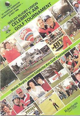Celebrity Pro-Am Golf Tournament (Welsh Rugby Union) 28 May 1990 Prog, Chepstow