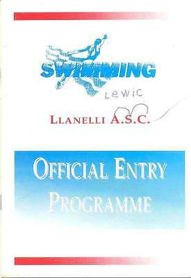 Llanelli Amateur Swimming Club Junior/Novice Gala 28 Sep 1996 Programme