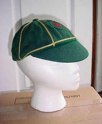 1950s Canadian Boy Scouts Canada Green Wool Wolf Cub Cap w/ Early Red Patch