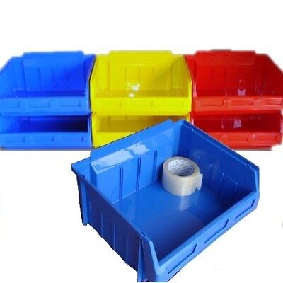 NEW LARGE Plastic Parts Storage Picking  Bins 5 x Size 5- Colour Choice