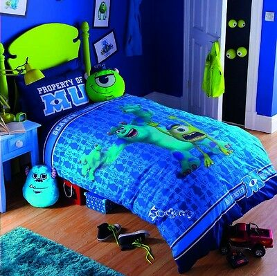Monsters University Inc Glow in the Dark Single Duvet Cover Bed Set & Cushions