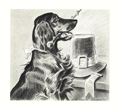 Irish Setter - Morgan Dennis Dog Print - MATTED