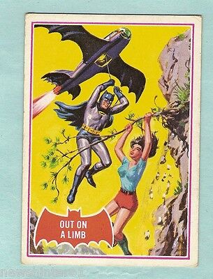 Scanlens 1966 Batman Red Bat Card #13A  Out On A Limb