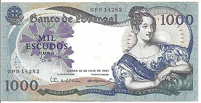 1967 Portugal 1000 Escudos Note:  *VF*; P# 172a