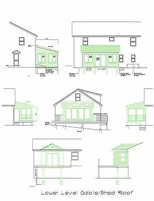 Enclosed Sunroom Plans Covered Deck 3 Season Room 16'x12' 12'x16' Sunroom Porch