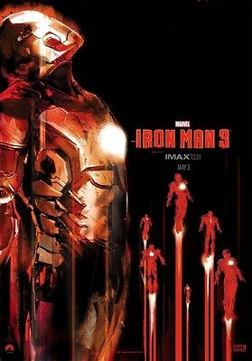 Marvel IRON MAN 3 2013 Midnight IMAX Exclusive Original Mini Movie Promo Poster