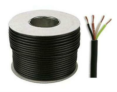 Black Round Flexible Cable 3184Y 4 Core 0.75mm 6 Amp 1mm 10A 1.5mm 15A 2.5mm 24A