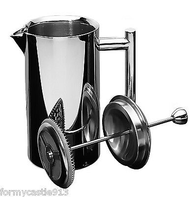 Frieling French Coffee Press Shiny 18/10 Stainless Steel 8 Cup 4 US cups 36 oz