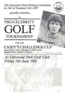 Swansea City - Pro-Celebrity Golf Tournament 1991 Programme Casey's Chall Cup
