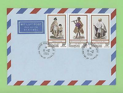 French Polynesia 1984 Costume set on Airmail cover