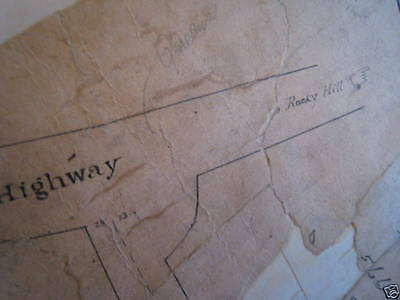 Orig 1851 Flushing Bayside Queens Kissam Bowne NYC Map
