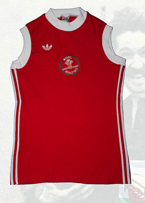Wales Senior Women's Athletics Vest. Made by Adidas Approx Small Size