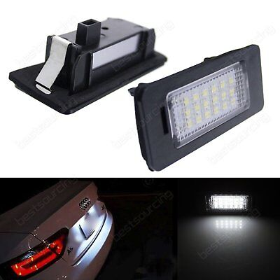 2X LED License Number Plate Light Canbus Audi A4 B8 A5 S5 TT Q5 VW Passat R36
