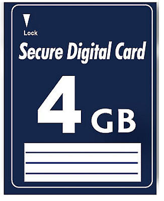 4 GB Secure Digital SD Karte High Speed kein SDHC Non SDHC ohne HC