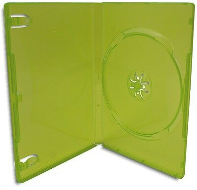 SINGLE-DISC =XBOX 360= Translucent Green Replacement Game Case 100-Pak