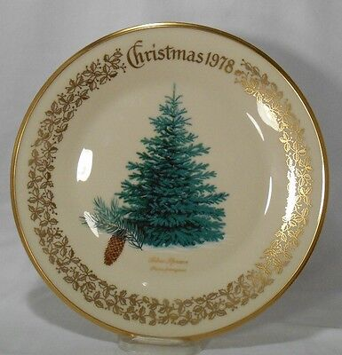LENOX Christmas Tree Plate 1978 BLUE SPRUCE - no box