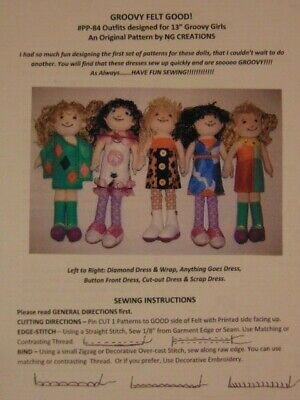 NG Creations Pattern #2 Sew Summer Dresses that fit Groovy Girls Dolls