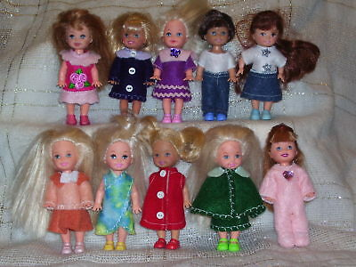NG Creations Felt Sewing Pattern #PP81 Makes 10 Outfits fits Kelly Barbie Sister