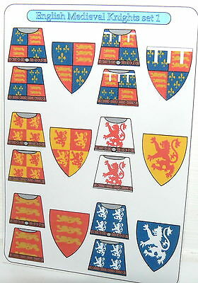 12 custom stickers knights of the round table set 1 lego torso size picclick uk - Knights of the round table lego ...