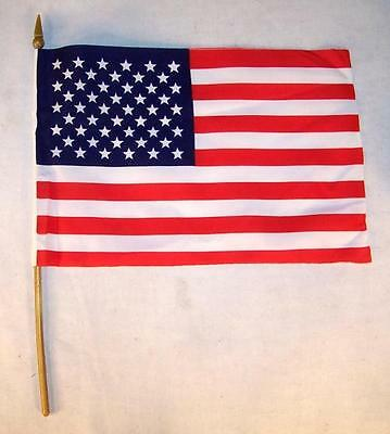 6 AMERICAN FLAG ON STICK 6 X 9 INCH united states of america USA bulk flags NEW