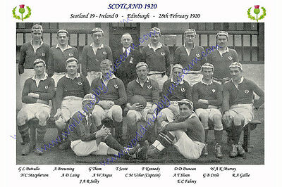 SCOTLAND 1920 (v Ireland, 28th February) RUGBY TEAM PHOTOGRAPH