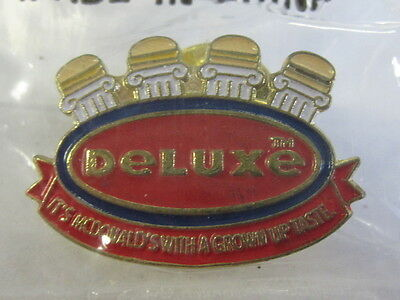 "McDonald's Dexluxe ""It's McDonald's With A Grown Up Taste"" Pin New In Bag EX"
