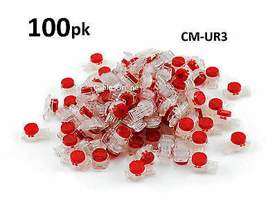 100-PACK Red 3-Wire IDC Connector, Splices 19-25 AWG Wire, CM-UR3