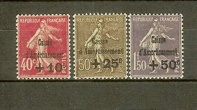 """FRANCE STAMP TIMBRE 266/68 """" CAISSE AMORTISSEMENT 4e SERIE """" NEUFS xx SUP H395"""
