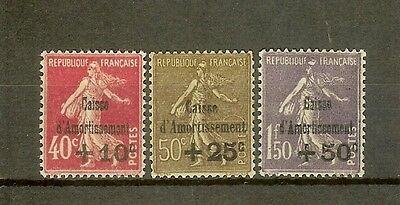 """FRANCE STAMP TIMBRE 266/68 """" CAISSE AMORTISSEMENT 4e SERIE """" NEUFS xx SUP H393"""