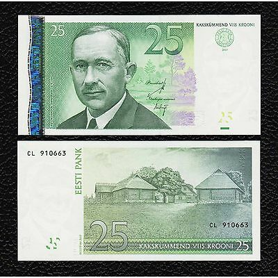 Estonia P-87b  2007  25 Krooni-Crisp Uncirculated