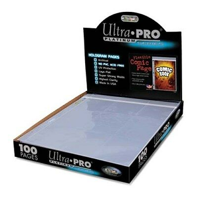 (Box of 100) Ultra Pro Platinum Flexible Comic Book Resealable Binder Pages