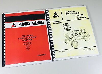 lot allis chalmers 700 series parts catalog service manual lawn rh picclick com Allis Chalmers CA Allis Chalmers CA