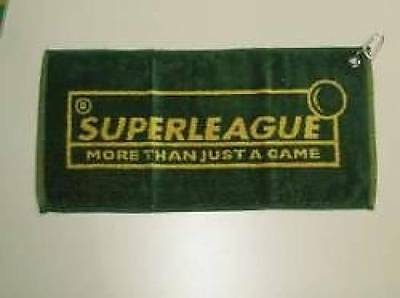 Superleague Green And Yellow Pool / Snooker Cue Towel With Clip